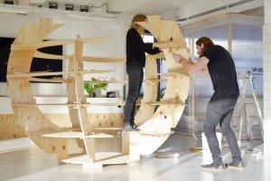 Aufbau eines Growrooms, Foto Niklas Adrian Vindelev