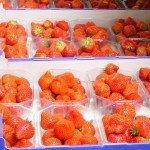 Verpackte Erdbeeren