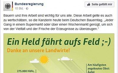 """Dank an """"unsere Landwirte"""" von der Bundesregierung am Deutschen Bauerntag"""