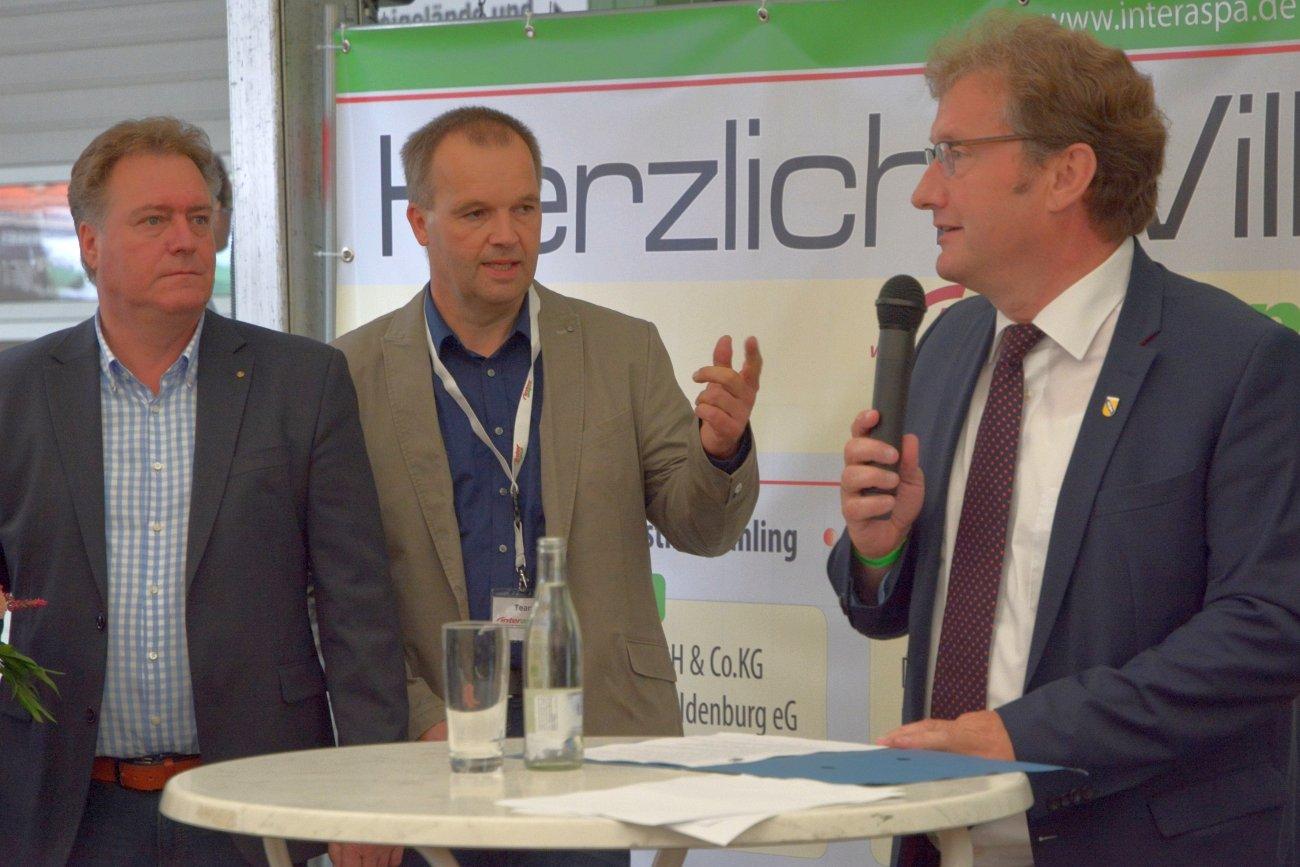 Eröffnungsrede interaspa praxis 2017. v.l. Ulrich Osterloh, Fred Eickhorst, Gerd Meyer. Foto: Heike Sommerkamp