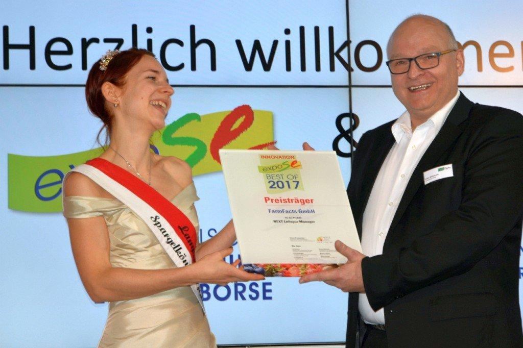 Innovationspreis an Volker Möllenkamp, Farmfacts Foto: Heike Sommerkamp