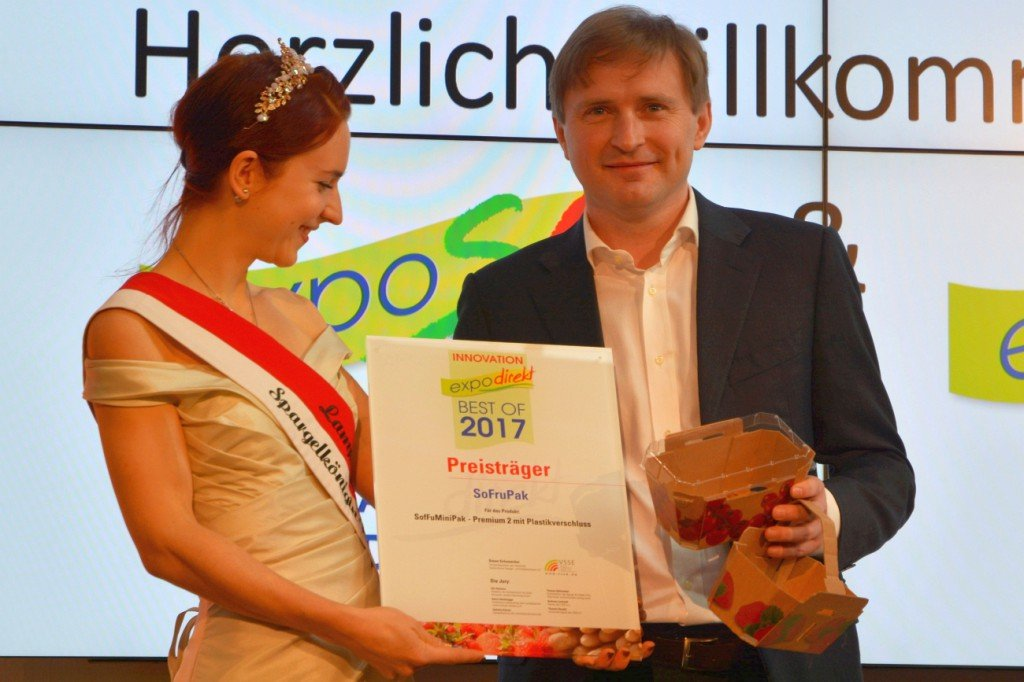 Innovationspreis an Adam Sikorski, SoFruPak Foto: Heike Sommerkamp