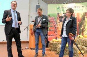 Referenten und Veranstalter beim Ahlemer Profi-Tag Spargel 2017. Foto: Tanja Dolic