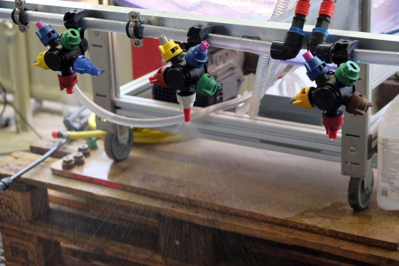 Spritzdüsen im Bewässerungssystem. Foto: Heike Sommerkamp