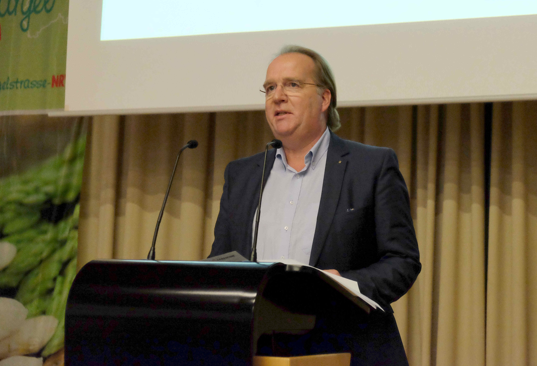 Willy Kreienbaum, 1. Vorsitzender der Vereinigung der Spargelanbauer Westfalen-Lippe e.V. Foto: Tanja Dolic