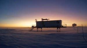 Das EDEN-ISS Gewächshaus zu Beginn der Polarnacht.    Foto: EDEN-ISS