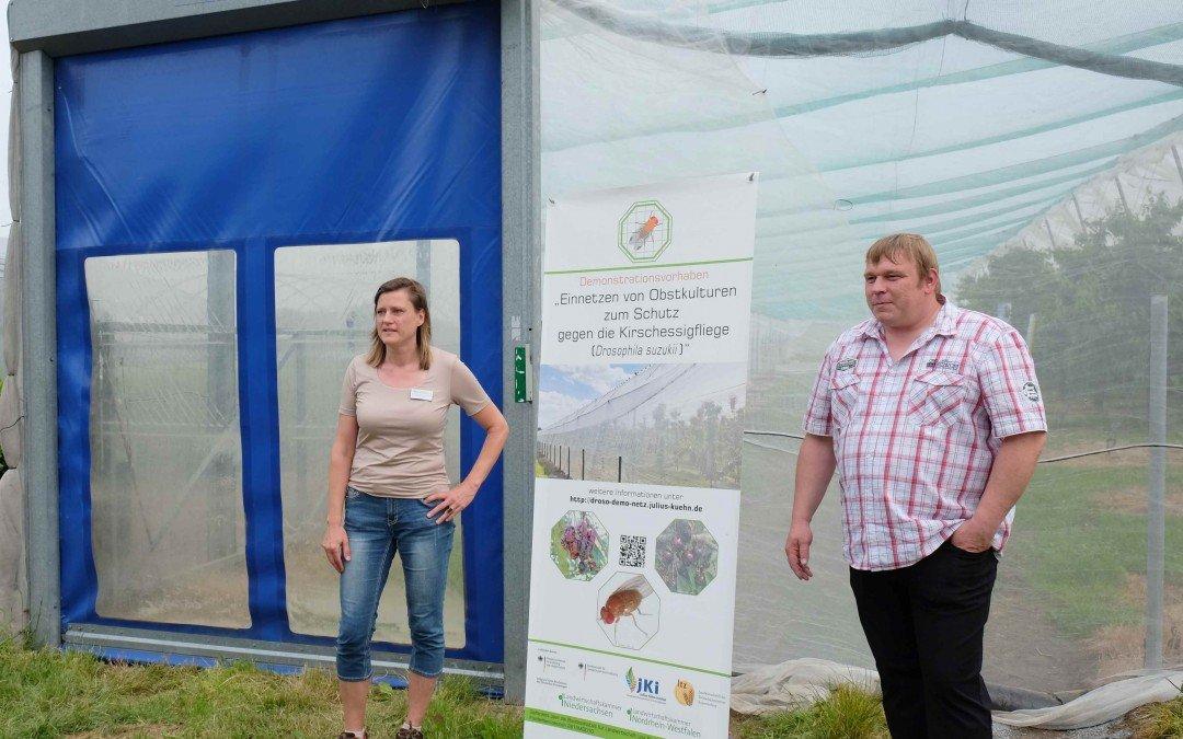 Droso-Demo-Netz Vorhaben des BMEL – Versuchsbesichtigung in Wadersloh