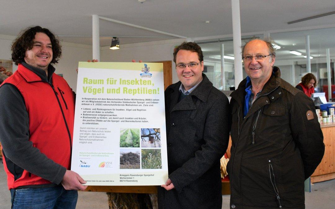 Pilotprojekt für naturschutzfördernde Maßnahmen im Spargel- und Erdbeeranbau