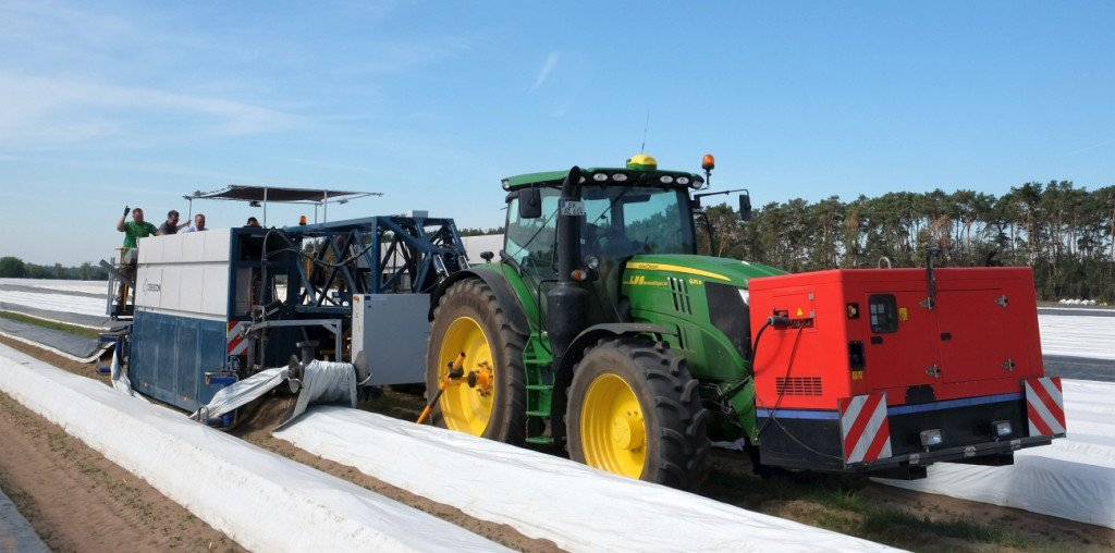 Sparter-Prototyp beim Ernteeinsatz in Genthin.   Foto: Heike Sommerkamp